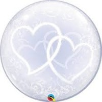 "Entwined Hearts 24"" Deco Bubble"