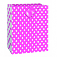 Hot Pink Dots Gift Bag Large