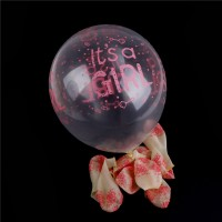 It's a Girl - Clear Latex - Chalk Print - 100CT
