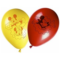 Playful Mickey Latex Balloons 8CT