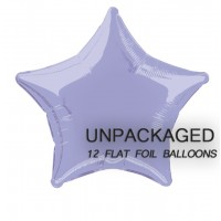 "Lavender - Star Shape - 20"" foil balloon (Pack of 12, Flat)"