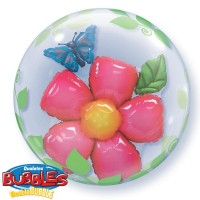 "Leaves & Flower - 24"" Double Bubble"