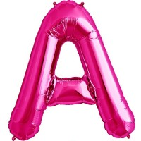 "Letter A - Magenta - 16"" Foil Balloon"