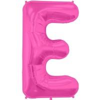 """Letter E - Magenta - 16"""" Foil Balloon"""
