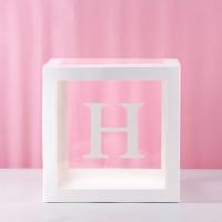 H Transparent Balloon Box 30x30x30cm