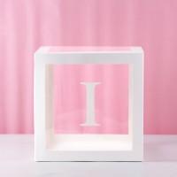 I (Letter I) Transparent Balloon Box 30x30x30cm