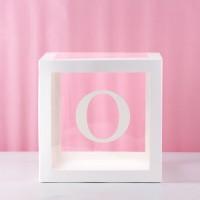 O (Letter O) Transparent Balloon Box 30x30x30cm
