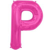 """Letter P- Magenta - 16"""" Foil Balloon"""