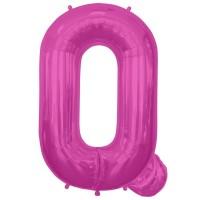 """Letter Q- Magenta - 16"""" Foil Balloon"""