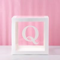 Q Transparent Balloon Box 30x30x30cm