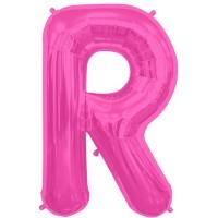 """Letter R- Magenta - 16"""" Foil Balloon"""