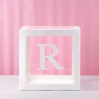 R Transparent Balloon Box 30x30x30cm