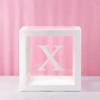 X Transparent Balloon Box 30x30x30cm