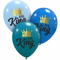 """Little King Superior 12"""" Latex Balloons 25Ct"""