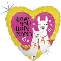 """Llove You Mama Llama 18"""" Foil Balloon"""