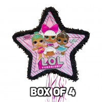 4 x LOL Shaped Drum Pull Pinatas