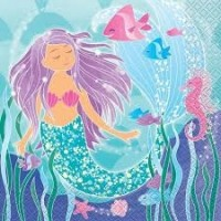 Mermaid Party Napkins 16 CT