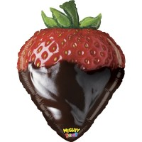 """Mighty Chocolate Strawberry 26"""" Foil Balloon"""