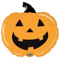 "Mighty Orange Pumpkin 28"" Mighty Bright Foil Balloon"