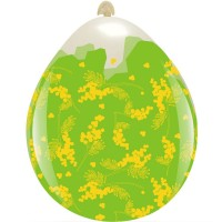 """Mimosa Bloom Clear 18"""" Stuffing Balloon 10Ct"""