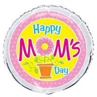 Happy Mom's Day 18inch Foil Balloon