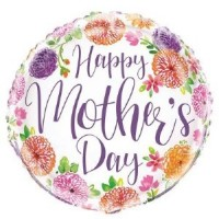 "Happy Mother's Day - Flowers 18"" Foil"