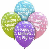 "Superior Happy Mother's Day 12"" Pastel Assorted 25ct"