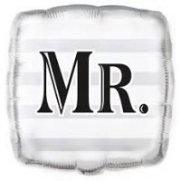 "MR. SQUARE 18"" FOIL BALLOON"