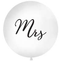 "Mrs - Script 32"" Latex Balloon 1ct"