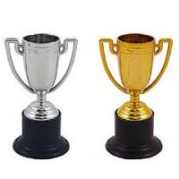 Mini Trophy 10cm Gold/Silver Asstd