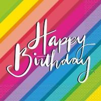 Balloons & Rainbow Birthday Luncheon Napkins 16ct