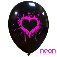 """Neon Painted Love 12"""" Latex Balloons 25Ct"""