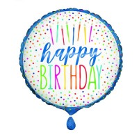 """Happy Birthday Candle 18"""" Foil Balloon"""