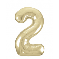 """34"""" Gold Number 2 Foil Balloon New"""