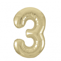 """34"""" Gold Number 3 Foil Balloon New"""