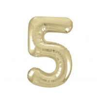 """34"""" Gold Number 5 Foil Balloon New"""
