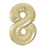 """34"""" Gold Number 8 Foil Balloon New"""