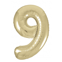 """34"""" Gold Number 9 Foil Balloon New"""