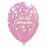 "Chalice 12""  'First Holy Communion' Pink Latex 50ct"