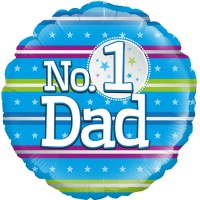 "No.1 Dad - Stripes 18"" Foil Balloon"