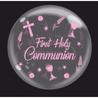 """Chalice Pink 'First Holy Communion' - Bubble - 24"""" (unpackaged)"""