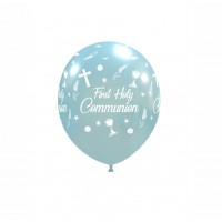 "Chalice 5"" 'First Holy Communion' Sky Blue Latex 100ct"