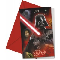 Star Wars Heroes Invitation & Envelopes 6CT.