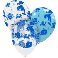 "Sea Life Superior 12"" Latex Balloons 25"""
