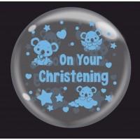 "Baby Koala Blue 'On Your Christening' - Bubble -  24"""