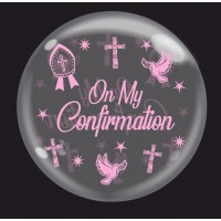 "Crozier Pink 'On My Confirmation' - Bubble - 24"" (unpackaged)"