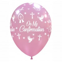"Crozier 12"" 'On My Confirmation' Pink Latex 50ct"