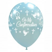 "Crozier 12"" 'On My Confirmation' Sky Blue Latex 50ct"