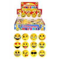 Smile Face Ball With Flashing Light 12pcs