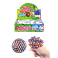 Mesh Squeeze Ball With Beads 7cm 12pcs